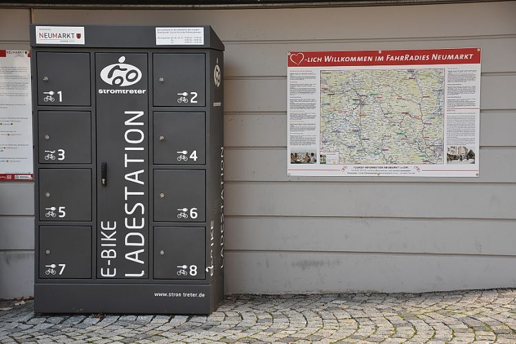 E-Bike Ladestation am Rathaus